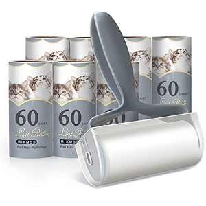 RIKMSS Lint Rollers for Pet Hair Extra Sticky, Pet Hair Remover, Cat & Dog Hair Remover, Lint Remover for Sofa, Furniture, Carpets, Bedding, Clothing ( with 7 Refills, Total 480 Sheets)