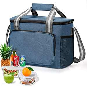 Lunch Box for Boys, Insulated Lunch Box with Adjustable Shoulder Strap, Reusable Freezable Leakproof Lunch Tote Bag,Cooler Bag Suitable for Men and Women(15L)