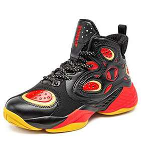 BIG WASP Boy's Basketball Shoes High-Top Sports Shoes Non-Slip Cushioning Protection Feet Jogging Shoes Presents for Children