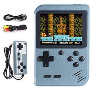 Hbaid Handheld Game Console, Retro Mini Game Player with 500 Classical Games 3.0-Inch Color Screen Support for Connecting TV and Two players 1020mAh Rechargeable Battery Present for Kids and Adult