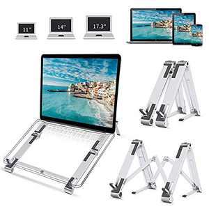 "Laptop Stand, Laptop Holder Computer Mount, Light Duty Aluminum Adjustable Ergonomic Foldable Portable Tablets Holder for 10"" to 15.6"" Notebook Computer"