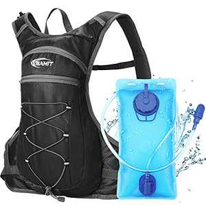 SAMIT Hydration Pack Insulated Hydration Backpack with 2L Leakproof Water Bladder Water Backpack Lightweight Running Backpack for Cycling,Hiking,Climbing,Hunting, Biking,Camping (Black)
