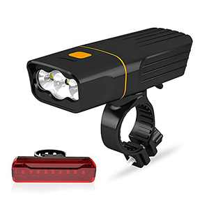 Bike Lights for Night Riding - Bicycle Lights Front and Back USB Rechargeable with Power Bank Function,Super Bright Front Headlight and taillight, Safety Flashlight Set for Road Mountain Cycling