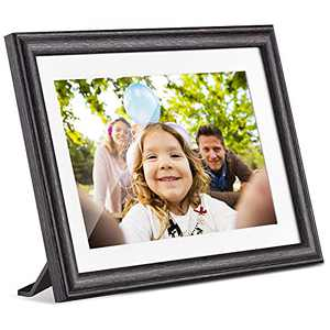 Pastigio Digital Picture Frame, 10.1 Inch HD WiFi Digital Photo Frame with Touch Screen, 16GB Build-in Memory, App, Email and SD Card Upload