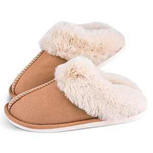 Men's Cozy Memory Foam Slippers,Fuzzy Soft Lining,Warm Anti-Skid Indoor Outdoor House Shoes