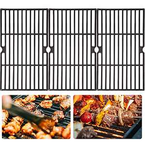 3 Pack Grill Grate Replacement Parts- Matte Cast Iron Grill Cooking Grates Compatible with Charbroil 463420508 463420509 463420511 463436213 463436214 463436215 463461613 Grills Grate for Outdoor BBQ