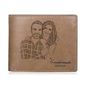 Custom Wallets for Men Personalized Photo Wallets Engraved Travel Wallet for Father Husband Son Boys Boyfriend Grandpa Father's Day Gift Birthday Christmas Gift/carteras para hombres