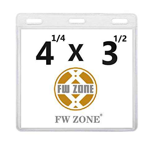 "CDC Vaccination Card Protector Immunization Badge Vaccine Cards Standard Holder Clear Vinyl Waterproof Type Resealable Zip (Card 4.3x3.5"", 3pcs)…"