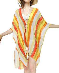 Womens Blouse Kimono Casual Front Cardigan Loose Beach Swim Bikini Cover ups