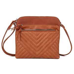 Women's Crossbody Bags, Crossbody Shoulder Quilted Handbags,Multi Pocket Messenger Satchel,Waterproof Women Purse Medium