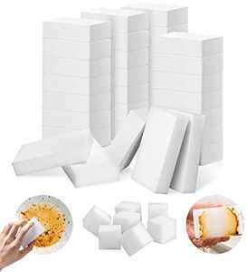 Melamine Sponges, YeahWhee100 Pack All-Purpose Magic Cleaning Sponge Eraser Foam, Household Cleaner Non-Scratch Scrub Sponge Pads for Kitchen, Dish, Sink, Bathtub, Wall, White Nano Sponges