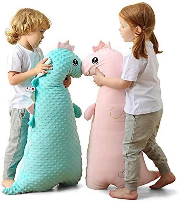 Big Dinosaur Plush Toys, Cute Dinosaur Stuffed Animals Plush Toy -3D Dinosaur hugging Pillow, Perfect Present for Children Adults,Gift for Birthday, Valentine, Christmas ,Nursery,Room Decor (Green)