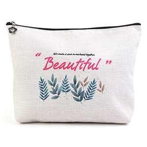Makeup Bag, Portable Travel Cosmetic Bag for Women with Zipper Pouch Cute Makeup Pouch Multi-functional Makeup Bag for Women (1 pack,beautiful)