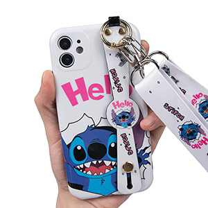 iPhone 12 Case,Cute Cartoon Personalized Full Protective Phone Cover with Kickstand and Lanyard Kickstand Perfect for Daily use,Work,Outdoors for iPhone 12 6.1 inch