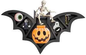 Halloween Bats Decor - Goth Room Decor - Halloween Decorations Bat Wall Shelf Horror Decor - 17'' x 11''