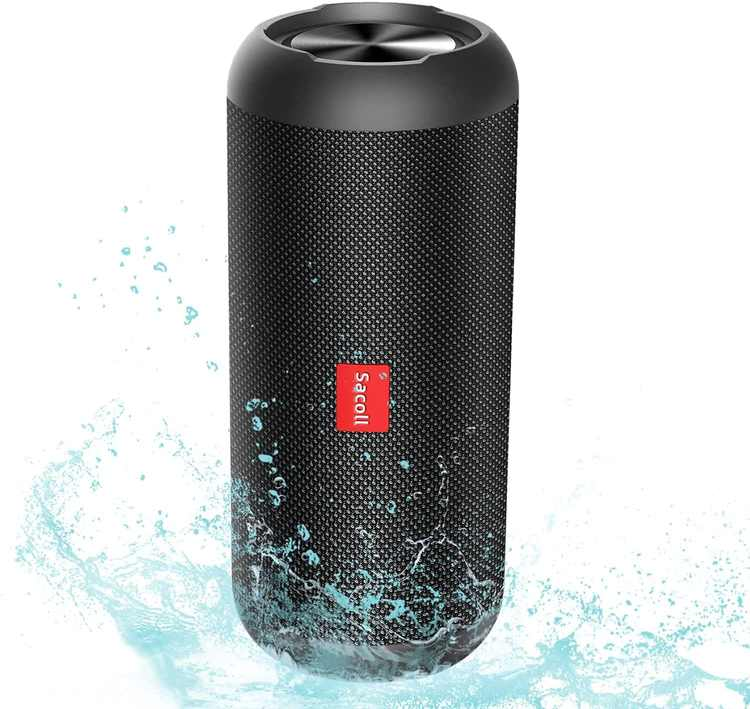 Sacoll portable Bluetooth speakers, 30W stereo IPX6 waterproof wireless speakers, Bluetooth 5.0 speakers, 20 hours of play time, 40 feet of Bluetooth range, double speakers pairing, travel, camping
