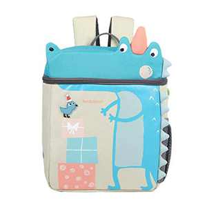 Toddler Backpack with Leash and Chest Strap for Boys Girls, Cute 3D Kindergarten School Backpack for Kid (Crocodile)