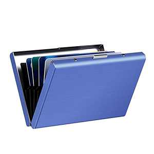 Credit Card Holder Protectors, Credit Card Metal Wallet for Men Women, RFID Blocking Card Holders, Wallet Shield for Credit Cards(Blue)