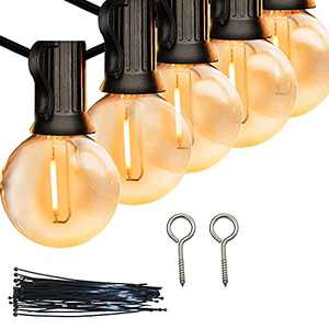 Outdoor LED Globe String Lights, Porch String Lights, String Lights for Patio, 25Ft 26 Shatterproof Waterproof LED Bulbs, Outside Patio Garden Backyard Bistro String Light