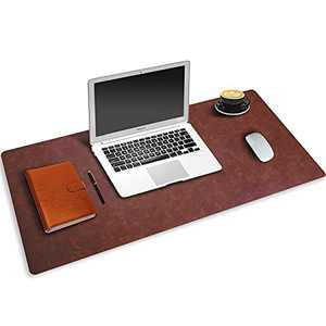 Desk Pad Mouse Pad, Large Gaming Mouse Pad, PU Leather Office Desk Pad, Desk Keyboard Pad, Nonslip Desk Pad, Desk Cover Pad Protector Laptop Desk Blotter Writing Mat for Office/Home/Table/Gaming Brown