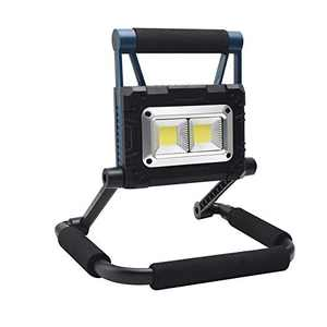Solar Work Light Rechargeable, Torchlet 2021 Newest LED Flood Light Outdoor with 1500LM, 5000 mAh, 3 Work Modes, 360° Rotation Stand, Magnetic Base, Camping Light with USB Output as a Power Bank