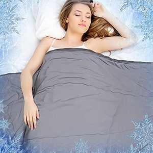 Rywell Cooling Blanket for Hot Sleepers Twin, Arc-Chill Cool Touch Fabric Q-Max>0.45, Summer Cooling Blanket Lightweight, Double-Sided All Season Silky Down Alternative Comforter, Cooling Duvet, Grey