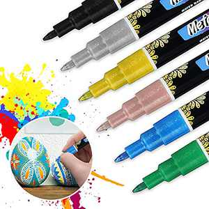 Acrylic paint pens Marker Pens for Rock Painting Kit,Eyeleaf 6 Colors Paint pens for DYI crafts have vibrant,bright colors,Arts and Craft Sets for Adults Kids,Craft Supplies Scrapbook Card Making