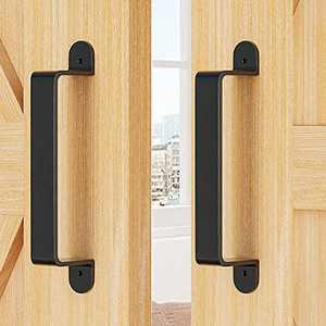 ZEKOO Black Rustic Garden Gate Shed Pull Door Handle Sliding Barn Door Hardware Kit ( 2PCS )