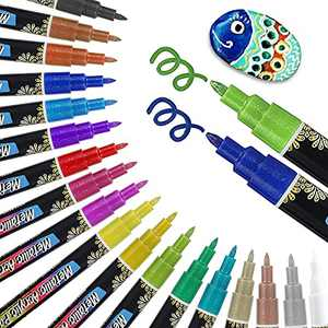 Acrylic paint pens Marker Pens for Rock Painting Kit,Eyeleaf 18 Colors Paint pens for DYI crafts have vibrant,bright colors,Arts and Craft Sets for Adults Kids,Craft Supplies Scrapbook Card Making