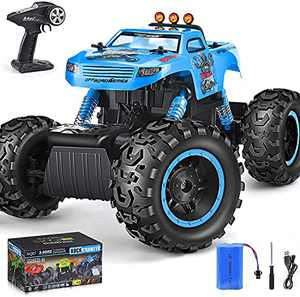 NQD Remote Control Monster Truck, RC Car,1:16 All Terrain Rechargeable Electric Toy, 2.4Ghz 4WD Off Road Rock Crawler Vehicle for Boys & Girls Gifts