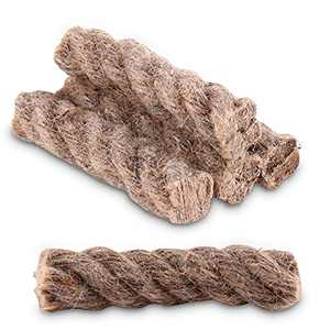 DeBizz Fire Starter Rope   Tinder Wick, 5-Pack Extra Large Natural Hemp Survival Tinder Hemp Wick for Camping Hiking Backpacking and More Field Survival Activities …