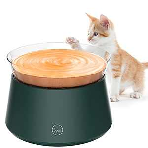 Duoai Automatic Cat Water Fountain Dispenser Pet Water Fountain, Quiet Small Dog Drinking Fountains with Intelligent Pump and LED Indicator Water Shortage Alert… (Dark Green)