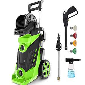 Homdox Pressure Washer, 3490PSI Electric Power Washer, 1800W High Pressure Washer, Professional Washer Cleaner, with 4 Nozzles, Soap Bottle and Hose Reel, Best for Cleaning Cars,Driveways,Patios