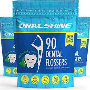 2-in-1 Dental Floss Picks, 3 x 90 Count (270 Floss Picks), Minty Fresh, Smooth Glide Technology