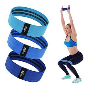 WOTEK Booty Bands for Women with Widen and Thicken Fabric(3 Sets) - Non Slip Exercise Bands for Working Out, Physical Therapy, Home Fitness, Strength Resistance Bands for Legs and Butt