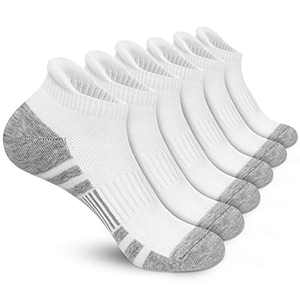 Ankle Running Socks Cushioned Low Cut Tab Athletic Socks for Men and Women Moisture Wicking Arch Support Sports Socks 6 pair