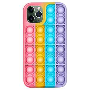 Feeke Push Pop Fidget Phone Case, Silicone Bubble Sensory Fidget Toy, for iPhone 12/12Pro/12ProMAX/11/11Pro/11ProMAX/X/XS/XR/XSMAX/8/8Plus/7/7Plus