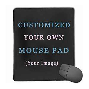 Custom Design Your Customized Non-Slip Mouse pad with Photo Text Logo for Gaming Office Personalized Gift Vertical Style 11 7x8.6in