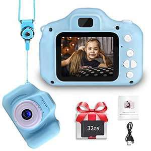 LANXUN Digital Camera for Kids,2.0 Inch IPS Toys Digital Video Camera for Birthday, Toddler Camera with 32GB SD Card for 3-8 Years Girls Boys