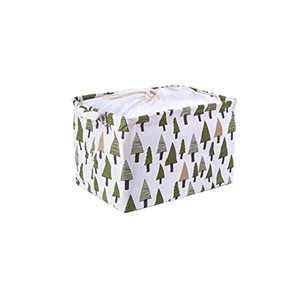Attelite Storage baskets,Foldable Fabric Storage Bin With Drawstring Cover,Thicken Storage Basket Bin with 2 Handles,Waterproof Inner Layer,For home Storage (14.96L×10.43W×9.84H)