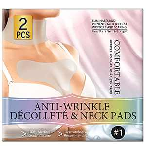 2 Pack Chest Wrinkle Pads,Decollete Anti-Wrinkle Chest Pads Sleeping,Reusable Silicon Chest And Neck Patches Overnight Wrinkles Treatment