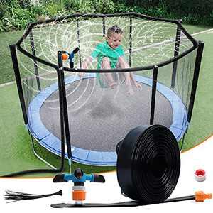 WDERNI Trampoline Sprinkler for Kids Outdoor Trampoline Water Sprinkler for Kids Adults, Trampoline Accessories Sprinkler 39ft Long for Water Games Summer Fun in Yards