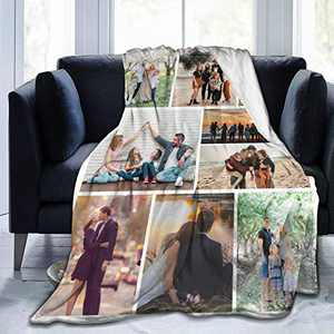 """Custom Photo Throw Blanket Big Customized Personalized with Picture Upload Blankets for Women Birthday Friend Best Wedding Family Picture-9 50""""x40"""""""