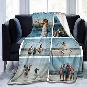 """Custom Photo Throw Blanket Big Customized Personalized with Picture Upload Blankets for Women Birthday Friend Best Wedding Family Picture-7 80""""x60"""""""