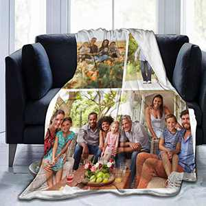 """Custom Photo Throw Blanket Big Customized Personalized with Picture Upload Blankets for Women Birthday Friend Best Wedding Family Picture-3 50""""x40"""""""