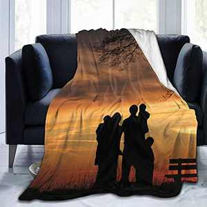 """Custom Photo Throw Blanket Big Customized Personalized with Picture Upload Blankets for Women Birthday Halloween Mothers Fathers Day New Year Gift Picture-1 80""""x60"""""""