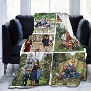 """Custom Photo Throw Blanket Big Customized Personalized with Picture Upload Blankets for Women Birthday Halloween Mothers Fathers Day New Year Gift Picture-6 50""""x40"""""""