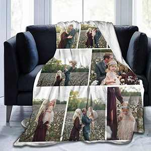 """Custom Photo Throw Blanket Big Customized Personalized with Picture Upload Blankets for Women Birthday Friend Best Wedding Family Picture-8 80""""x60"""""""