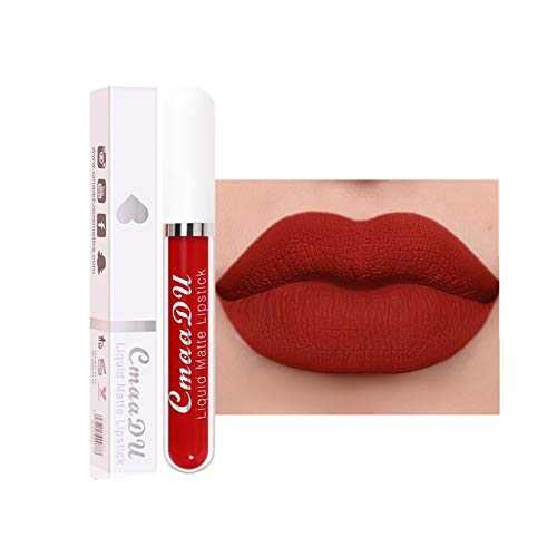 18-Color Lip Gloss, Matte Non-Stick Cup Waterproof Long Lasting Lip Gloss for Women Lip Matte Liquid Lipstick (#518) (#514)