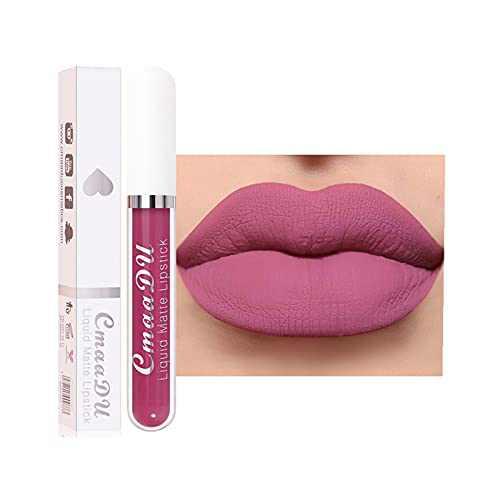 18-Color Lip Gloss, Matte Non-Stick Cup Waterproof Long Lasting Lip Gloss for Women Lip Matte Liquid Lipstick (#518) (#510)